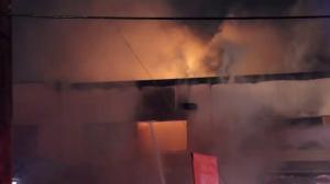 Stubborn fire guts Surrey commercial complex