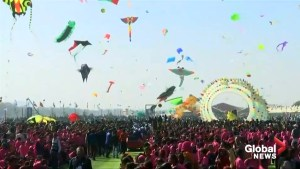Over 45 countries participate in India's vibrant kite festival
