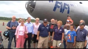 B29 Superfortress takes part in Air Legends show at Peterborough Airport
