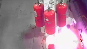 Video shows suspect lighting gas station fire in Staten Island