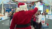 Play video: Santa visit at Stollery Children's Hospital sparks awe and delight