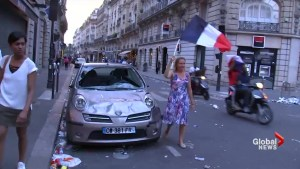 World Cup celebrations turn violent in Paris