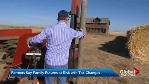Farmers say future at risk with proposed tax changes