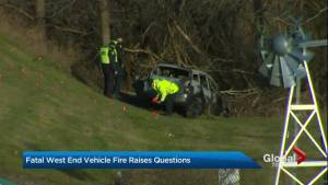 Toronto Police discover body in a burned out car