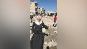 Tearful woman in Syria makes plea to Trump after Idlib airstrike: 'Mr Trump, please stop this'