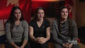Team Canada's under-18 women's hockey team speaks ahead of world championships in Russia
