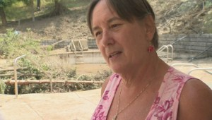 Woman swept out of pool during Vernon landslide