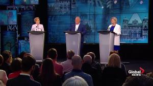 Ont. Leaders' Debate: Wynne hammers Ford and Horwath's plans