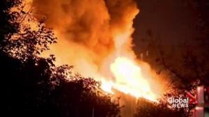 Townhouse complex fire devastates Ontario community
