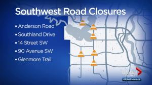 Businesses suffering due to southwest Calgary road projects