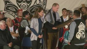 Prince William and Kate presented with spirit blankets