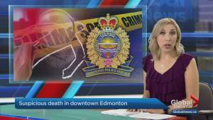 Edmonton police investigating suspicious death in downtown apartment