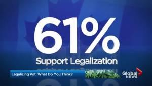 How do Canadians feel about pot legislation? (00:55)