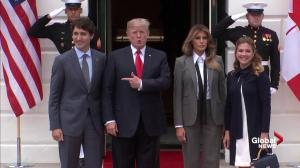Trudeau arrives at White House to meet with Trump as NAFTA talks loom