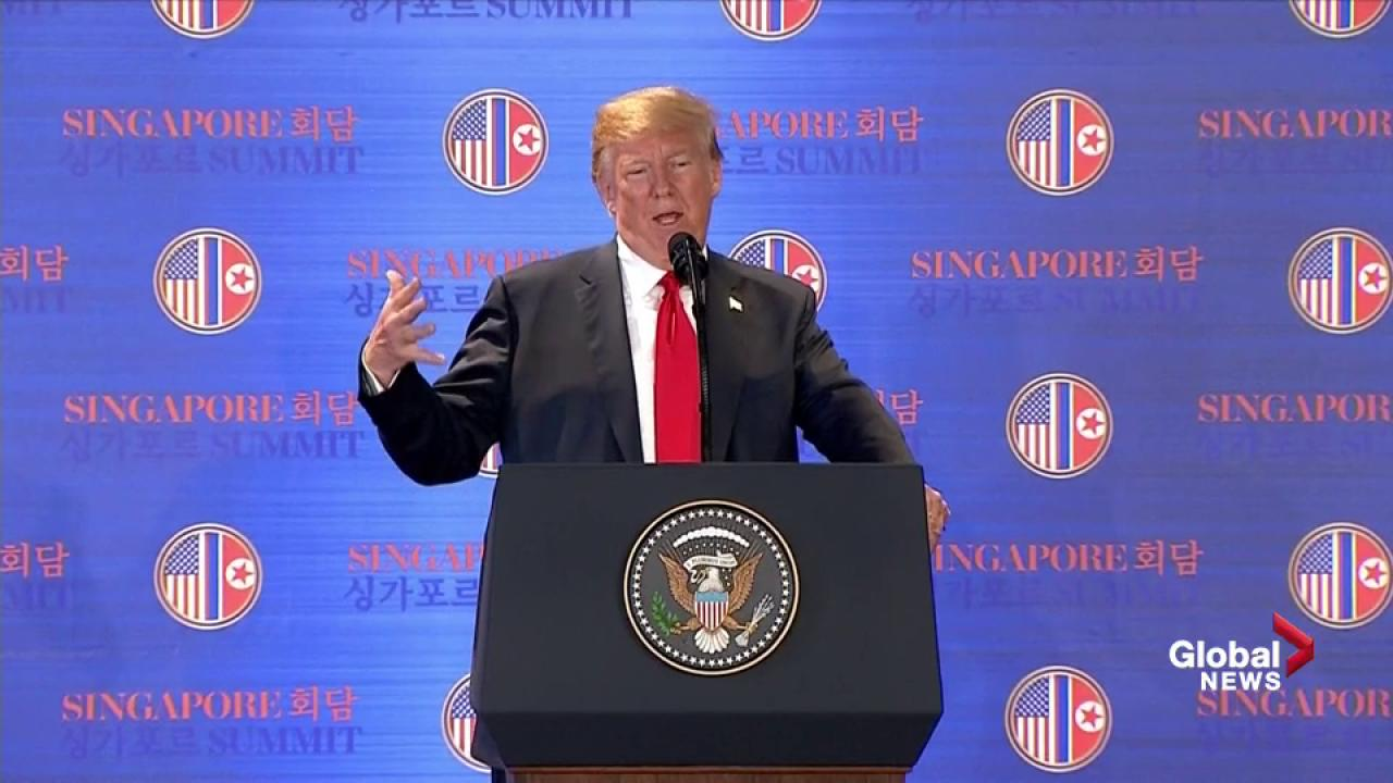 Trump uses 'movie trailer' in pitch to Kim Jong Un at summit