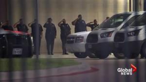 Dallas police salute fallen officers