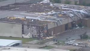 Aftermath aerial video of destruction in wake of severe storm in Oklahoma