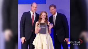 A royal honour for a young Canadian receiving Diana Award