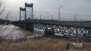 Selkirk Bridge closed due to high water levels on the Red River