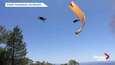 Paraglider has terrifying encounter with dust devil in