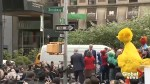 NYC street renamed Sesame Street as Big Bird, other cast members gather to celebrate
