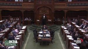 Protest erupts after Ontario legislature adjourns rare weekend session