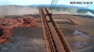Caught on camera: Terrifying moment of Brazil dam collapse