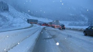 A portion of the Coquihalla Highway bans trucks in left lane