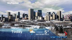 Edmonton early morning weather forecast: Friday, December 15, 2017