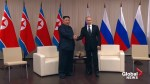 Kim Jong Un and Putin call for closer relations at first-ever summit