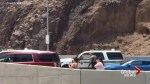 Police respond after man with weapons barricades himself in truck near Hoover Dam