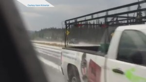 Raw: Crazy weather on the Coquihalla connector