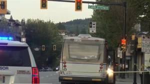 Man in critical condition after being struck by bus in Burnaby