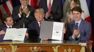 USMCA: Trudeau, Trump, Nieto sign 'new NAFTA' agreement