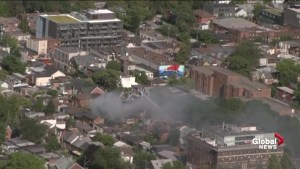 3-alarm fire engulfs several homes in downtown Toronto