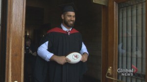 Montreal football star officially becomes a doctor