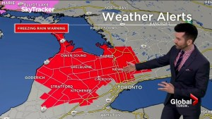 Freezing rain warning, light snow and colder temperatures in store for GTA