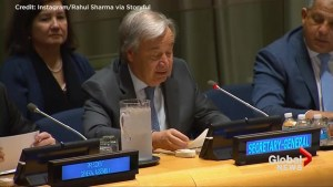 U.N. Secretary-General Antonio Guterres comments on UN nuclear ban treaty