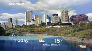 Edmonton early morning weather forecast: Thursday, October 18, 2018
