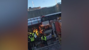 Emergency crews on scene after Ottawa bus crash at transit station