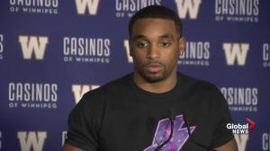 Blue Bombers Maurice Leggett says he dunked on 10-foot basket
