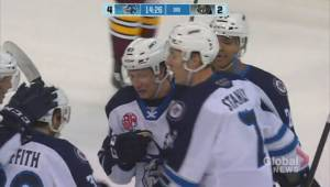 Manitoba Moose Luke Green adjusting to hockey without twin as teammate (01:38)