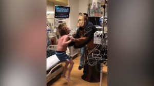 Doctor dressed as Chewbacca tells boy he will be getting a new heart