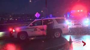 Accident victim too aggressive for ambulance ride