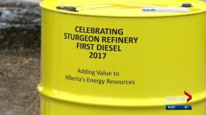 Alberta refinery hits milestone with first diesel production