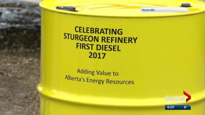 Report finds Alberta's North West Redwater Sturgeon Refinery's