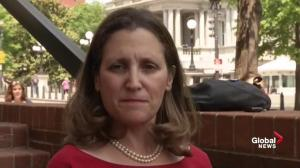 NAFTA negotiations making 'meaningful, solid' progress: Freeland