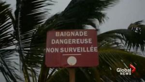 Hurricane Maria rips through Martinique island in Caribbean