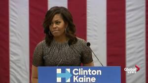 Michelle Obama addresses Trump claiming election is 'rigged'