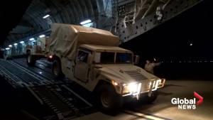 U.S. troops arrive at Arizona border ahead of migrant caravan